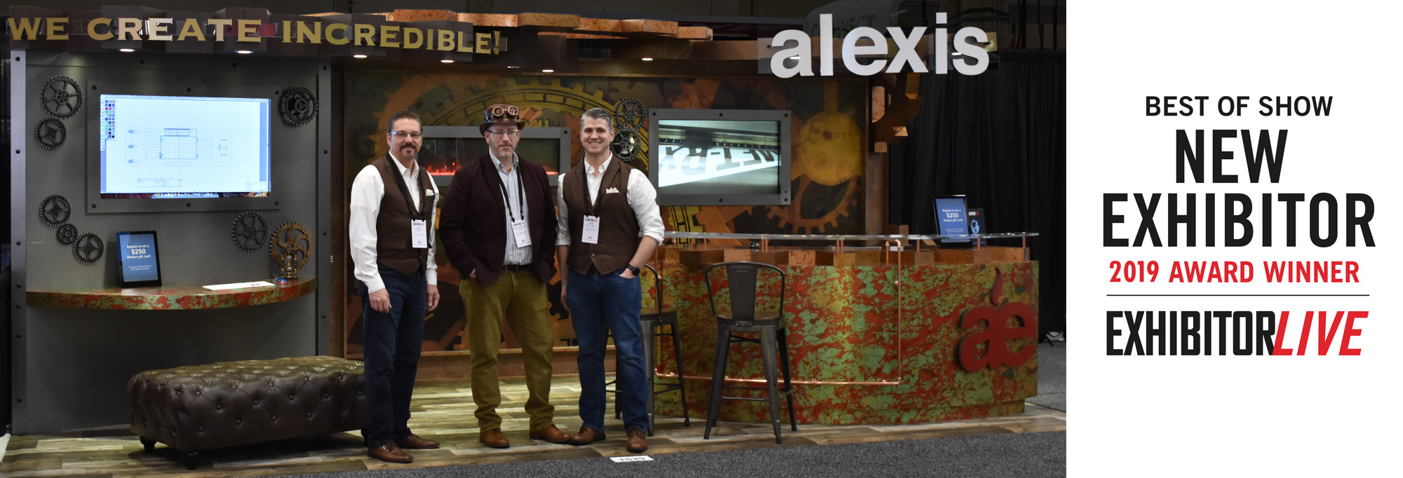 Alexis Exhibits - Best of Show New Exhibitor 2019 Award Winner - ExhibitorLIVE
